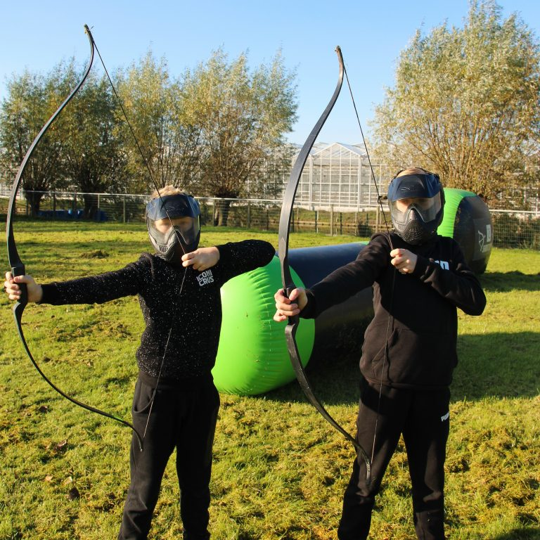 Archery tag kinderfeestje